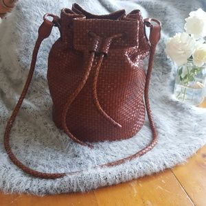 Talbots genuine leather bucket bag. Gently loved